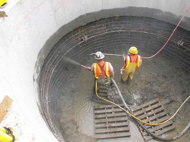 Silica fume in shotcrete
